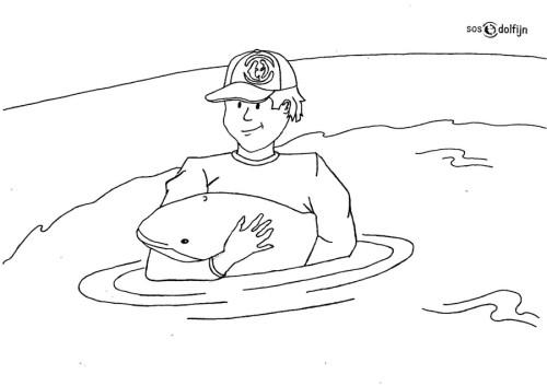 Malvorlage zu Bendert, dem kleinen Schweinswal (Foto: SOS Dolfijn)