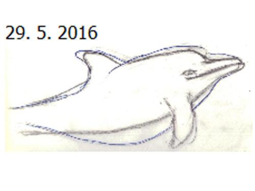 Auch der Wal-Experte Günther Behrmann hat am Zeichenunterricht teilgenommen.